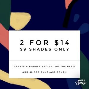 Accessories - Sunglass Sale 2 for $14